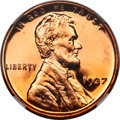 Proof Lincoln Cents, 1937 1C PR67 Red Ultra Cameo NGC....