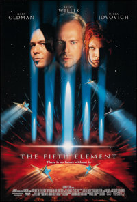 "The Fifth Element (Columbia, 1997). Rolled, Very Fine/Near Mint. One Sheet (26.75"" X 39.75"") DS. Science Ficti..."