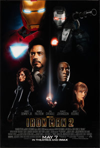 "Iron Man 2 (Paramount, 2010). Rolled, Very Fine/Near Mint. One Sheet (27"" X 40"") DS Advance. Science Fiction..."