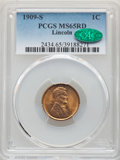 Lincoln Cents, 1909-S 1C MS65 Red PCGS. CAC. PCGS Population: (478/168). NGC Census: (172/68). CDN: $800 Whsle. Bid for NGC/PCGS MS65. Min...