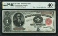 Large Size:Treasury Notes, Fr. 352 $1 1891 Treasury Note PMG Extremely Fine 40 EPQ.. ...
