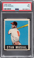 Baseball Cards:Singles (1940-1949), 1948 Leaf Stan Musial #4 PSA NM 7. ...