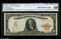 Large Size:Gold Certificates, Fr. 1169 $10 1907 Gold Certificate CGA Gem Uncirculated 68.