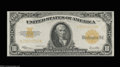 Large Size:Gold Certificates, Fr. 1173 $10 1922 Gold Certificate Gem New. Very well ...