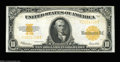 Large Size:Gold Certificates, Fr. 1173 $10 1922 Gold Certificate Very Choice New. The ...