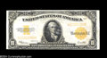 Large Size:Gold Certificates, Fr. 1173 $10 1922 Gold Certificate About New. Incredibly ...