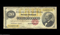 Large Size:Gold Certificates, Fr. 1178 $20 1882 Gold Certificate Very Good. Well ...