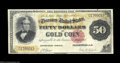Large Size:Gold Certificates, Fr. 1193 $50 1882 Gold Certificate Fine. There are two ...