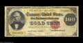 Large Size:Gold Certificates, Fr. 1206 $100 1882 Gold Certificate Very Good. The note ...