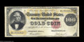 Large Size:Gold Certificates, Fr. 1214 $100 1882 Gold Certificate Fine. A solid example, ...