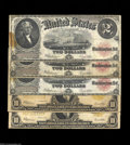 Large Size:Group Lots, Five Large Size Notes. There are three Fr. 60's grading ... (5 notes)