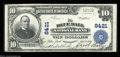 National Bank Notes:Pennsylvania, Blue Ball, PA - $10 1902 Plain Back Fr. 626 The Blue ...