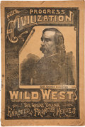 Books:Pamphlets & Tracts, George A. Custer: The Progress Of Civilization Wild West Program....
