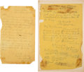 Militaria:Ephemera, [George A. Custer]: Pair Of Civil War Orders.... (Total: 2 Items)