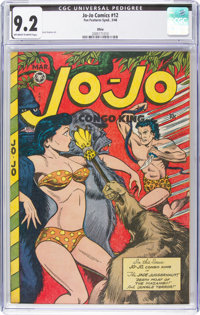 Jo-Jo Comics #12 Ohio Pedigree (Fox Features Syndicate, 1948) CGC NM- 9.2 Off-white to white pages