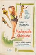 "Movie Posters:Foreign, Mademoiselle Striptease (DCA, 1956). Folded, Fine/Very Fine. One Sheet (27"" X 41""). Foreign.. ..."