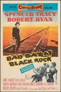 "Movie Posters:Thriller, Bad Day at Black Rock (MGM, 1955). Folded, Fine/Very Fine. One Sheet (27"" X 41""). Thriller.. ..."
