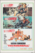 """Movie Posters:James Bond, Thunderball (United Artists, R-1980). Folded, Very Fine-. One Sheet (27"""" X 41""""). Cut Jetpack Style, Frank McCarthy and Rober..."""
