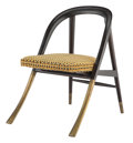 """Furniture, Edward Wormley (American, 1907-1995). """"A"""" Chair, designed 1954, Dunbar. Lacquered wood, upholstery, brass. 29-3/4 x 23 x..."""