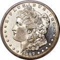 Morgan Dollars, 1887-O $1 MS65+ Deep Mirror Prooflike PCGS. CAC....
