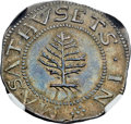 1652 SHILNG Pine Tree Shilling, Large Planchet, Pellets at Trunk, MS65 NGC. Noe-1, W-690, Salmon 1-A, R.2....(PCGS# 4536...