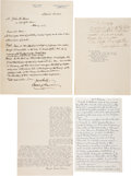 Miscellaneous:Ephemera, [Abraham Lincoln]: Reminiscence Letters Sent to Lincoln Researcher John Boos....