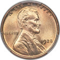 Lincoln Cents, 1928 1C MS67+ Red PCGS. CAC....
