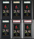 Golf Cards:General, 1981 Donruss Jack Nicklaus & 1997 Grand Slam Ventures Tiger Woods Collection With Extras....