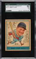 Baseball Cards:Singles (1930-1939), 1938 Goudey Heads-Up Jimmie Foxx #273 SGC 84 NM 7. ...