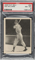 Baseball Cards:Singles (1930-1939), 1939 Play Ball Ted Williams #92 PSA NM-MT 8. ...