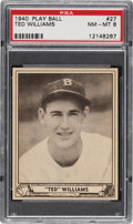 Baseball Cards:Singles (1940-1949), 1940 Play Ball Ted Williams #27 PSA NM-MT 8. ...