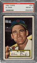 Baseball Cards:Singles (1950-1959), 1952 Topps Al Dark #351 PSA NM-MT 8. ...