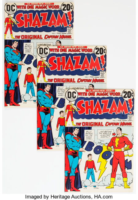 Shazam! #1 Group of 44 (DC, 1973) Condition: Average VF.... (Total: 44 Comic Books)