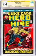 Bronze Age (1970-1979):Superhero, Hero for Hire #1 Signature Series - Stan Lee (Marvel, 1972) CGC NM 9.4 Off-white to white pages....