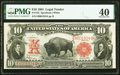 Large Size:Legal Tender Notes, Fr. 122 $10 1901 Legal Tender PMG Extremely Fine 40.. ...