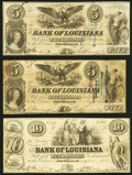 Obsoletes By State:Louisiana, New Orleans, LA- Bank of Louisiana $5 (2); $10 1862 G10c (2); G14a Fine or Better.. ... (Total: 3 notes)