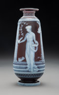 Glass, George Woodall for Thomas Webb & Sons Cameo Glass Vase: At the Portal, circa 1890. Signed: Woodall. Marks: THO...