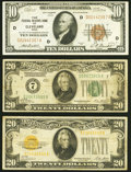 Fr. 1860-D $10 1929 Federal Reserve Bank Note. Very Fine-Extremely Fine; Fr. 2050-G $20 1928 Federal Reserve No