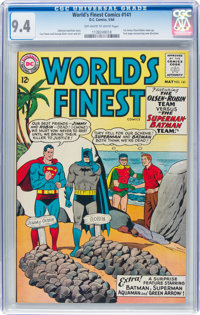World's Finest Comics #141 (DC, 1964) CGC NM 9.4 Off-white to white pages