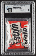 """Non-Sport Cards:Unopened Packs/Display Boxes, 1954 Topps """"Scoops"""" 1-Cent Wax pack GAI NM-MT 8. ..."""