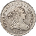 Early Dollars, 1798 $1 Large Eagle, Pointed 9, Close Date, B-27, BB-113, R.2 -- Cleaned -- NGC Details. AU....