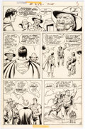 Original Comic Art:Panel Pages, Curt Swan and Murphy Anderson Superman #253 Story Page 5 Original Art (DC, 1972)....