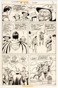 Curt Swan and Murphy Anderson Superman #253 Story Page 5 Original Art (DC, 1972)