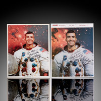 Two Fred Haise Signed Personalized 8x10 Photos  ... (Total: 2 Items)