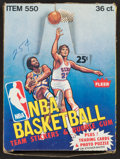 Basketball Cards:Unopened Packs/Display Boxes, 1980-81 Fleer Basketball Box with 35 Packs. ...
