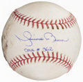 Autographs:Baseballs, 2005 Mariano Rivera Game Used, Single Signed & Inscribed Baseball From 362nd Save....