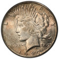 Peace Dollars: , 1927-S $1 MS64 PCGS. PCGS Population: (1587/92). NGC Census: (1037/77). CDN: $750 Whsle. Bid for NGC/PCGS MS64. Mintage 866...