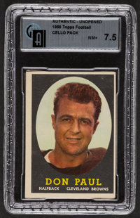 1958 Topps Football Cello Pack GAI NM+ 7.5