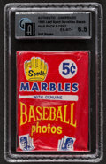 Baseball Cards:Unopened Packs/Display Boxes, 1960 Leaf Baseball 2nd Series 5-cent Wax Pack GAI EX-MT+ 6.5....