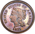 Patterns, 1871 5C Five Cents, Judd-1054, Pollock-1189, High R.6, PR65 Brown NGC. CAC....